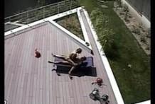 Sunbath spycam fuck
