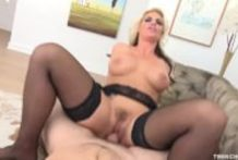Phoenix Marie sucks and rides cock POV